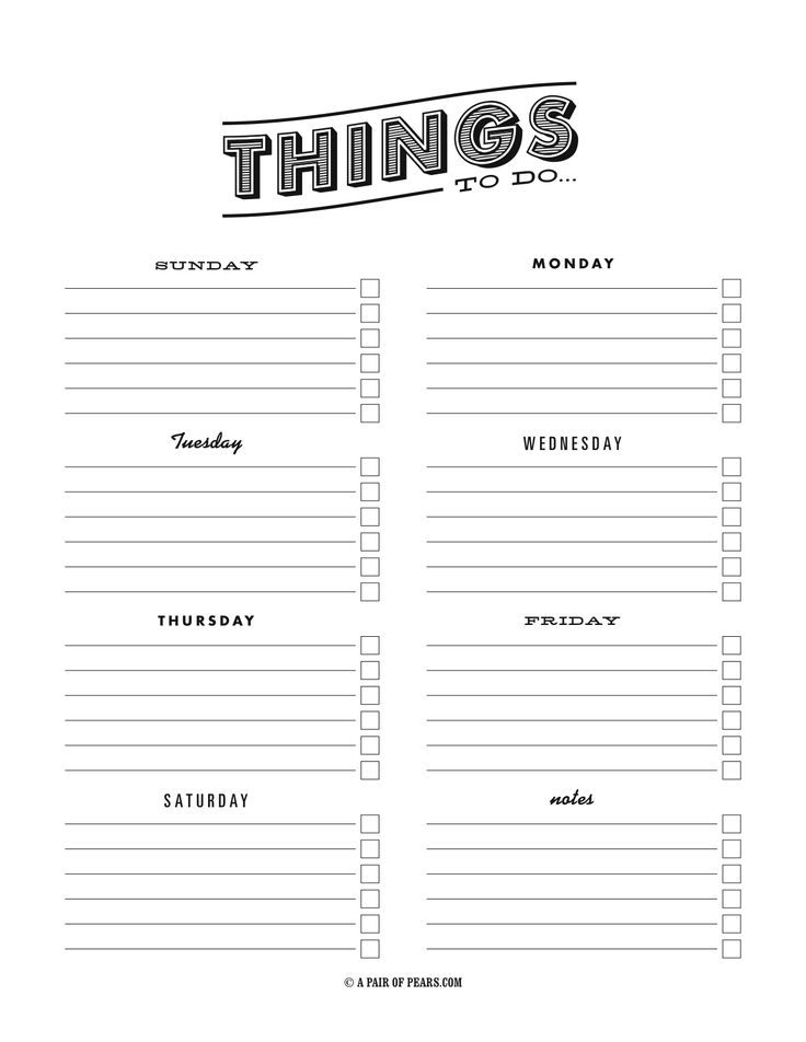 templates for to do lists