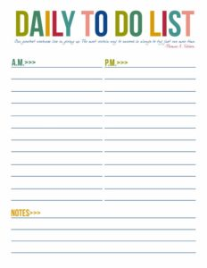 free to do lists templates