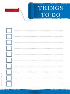 things to do today template