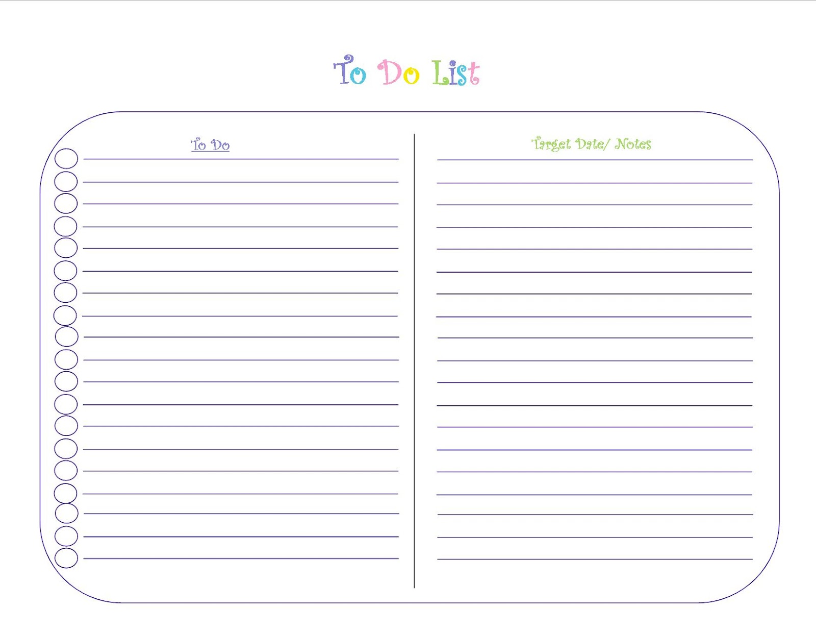 10 Marketing To Do List Templates – Free Printable Daily to Do List Template
