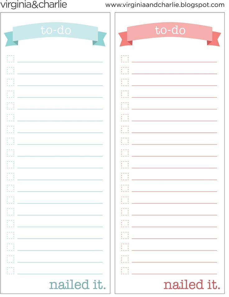 Pdf To Do List Templates Printable To Do Lists